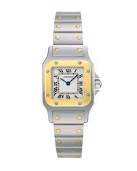 Cartier | Santos De GalbÉE Stainless Steel & 18K Yellow Gold Small Bracelet Watch | Lyst