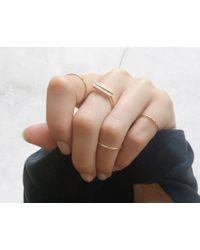 Vrai & Oro | Yellow Diamond Line Ring | Lyst