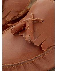 TOPMAN | Brown Tan Leather Tassel Loafers for Men | Lyst