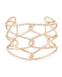 Alexis Bittar | Metallic Rose Golden Barbed Crystal Cuff Bracelet | Lyst