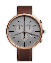 Uniform Wares | Brown Chronograph Leather Strap Watch | Lyst