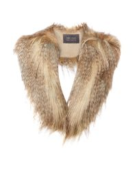 Helen Moore | Brown Long Faux Fur Collar | Lyst