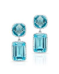 Anne Sisteron | 14kt White Gold Blue Topaz Earrings | Lyst