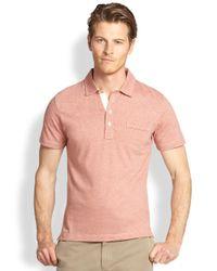 Billy Reid Pink Pensacola Polo for men