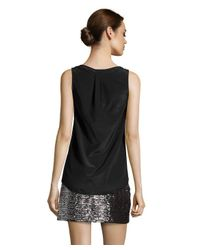 Alternative Apparel - Black Silk Shirttail Sleeveless Top - Lyst