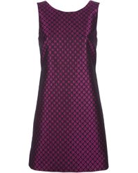 RED Valentino - Purple Patterned Shift Dress - Lyst