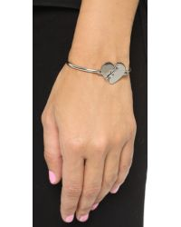 Marc By Marc Jacobs | Metallic Broken Hearted Hinge Bracelet - Argento | Lyst