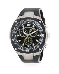 Saks Fifth Avenue | Chronograph Screw Detail Rubber Strap Watch/black | Lyst