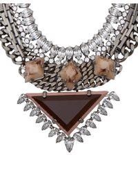 DANNIJO - Metallic Silver Crystal Joss Necklace - Lyst