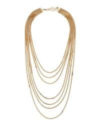 R.j. Graziano | Metallic Golden Multi-strand Chain Necklace | Lyst