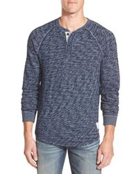Lucky Brand | Natural 'active' Long Sleeve Henley for Men | Lyst
