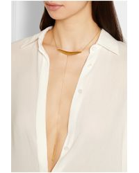 Chan Luu | Metallic Gold-plated Necklace | Lyst
