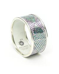 Wagner Arte - Multicolor Platinum Heart Bracelet - Lyst