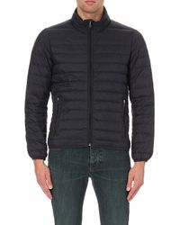 Armani Jeans - Blue Quilted Down Shell Jacket for Men - Lyst