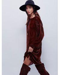 Free People - Brown Cp Shades X Womens Bridget Velvet Dress - Lyst