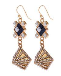 Lulu Frost | Metallic Gold-tone Terraced Earrings | Lyst
