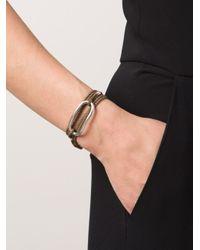 1-100   Brown '87' Bracelet   Lyst