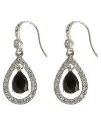 Carolee | Metallic Jet Crystal Teardrop Drop Earrings | Lyst