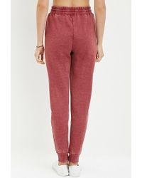 Forever 21 - Brown Heathered Drawstring Sweatpants - Lyst