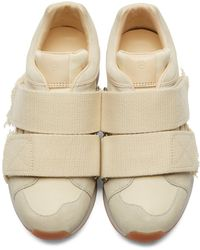 3.1 Phillip Lim - Natural Cream Suede Low-top Trance Sneakers - Lyst