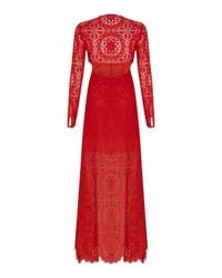 Temperley London | Red Long Nomi Backless Dress | Lyst
