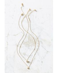 Urban Outfitters | Metallic Phillips Layering Necklace Set | Lyst