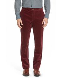 Vineyard Vines | Red Straight Leg Stretch Corduroy Pants for Men | Lyst