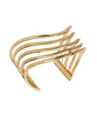 Robert Lee Morris | Metallic Spiral Jetty Hammered Multi-row Cuff Bracelet | Lyst
