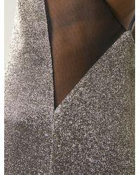 Galvan London - Metallic Slip Evening Dress - Lyst