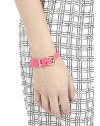Marc By Marc Jacobs - Pink Buckled Rubber Bracelet - Lyst