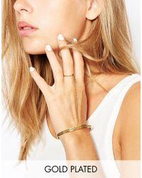 Gorjana - Metallic Ring To Wrist Cuff Handharness - Lyst