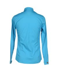 Frankie Morello - Blue Shirt for Men - Lyst