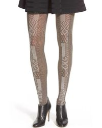 Via Spiga | Brown 'night Sky' Opaque Tights | Lyst