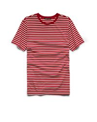 Forever 21 | White Striped Cotton Tee for Men | Lyst