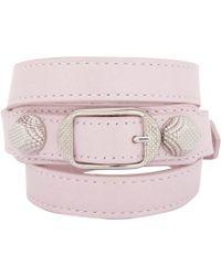 Balenciaga | Pink Arena Wrap Bracelet | Lyst