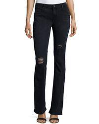 RTA - Black Jackson Distressed Bootcut Jeans - Lyst