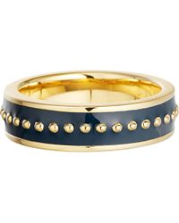 Astley Clarke | Blue Midnight 18ct Yellow-gold And Enamel Ring - For Women | Lyst