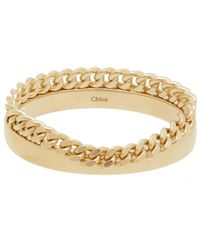Chloé - Metallic Gold-tone Carly Chain Bracelet - Lyst