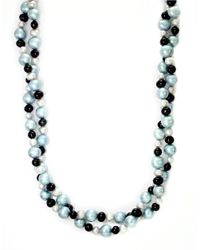 Effy | Sterling Silver Blue And Black Pearl Necklace | Lyst