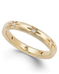Marchesa | Yellow Star By Diamond Star Wedding Band In 18k Gold (1/8 Ct. T.w.) | Lyst