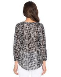 Velvet By Graham & Spencer - Black Ottavia Wrap Style Top - Lyst