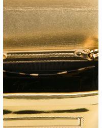 Giuseppe Zanotti   Metallic Logo Plaque Shoulder Bag   Lyst