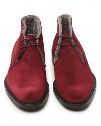 Jules B - Red Mens Suede Shearling Lined Chukka Boots for Men - Lyst