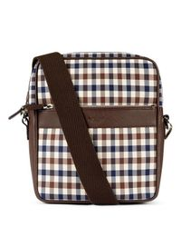 Aquascutum - Brown Club Check Across Body Bag for Men - Lyst