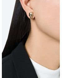 Givenchy - Metallic Skull Earrings - Lyst