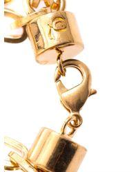 Alexander McQueen - Metallic Multistrand Skull Charm Bracelet - Lyst