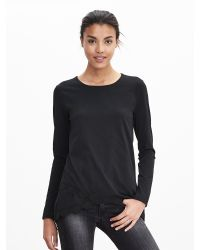 Banana Republic | Black Lace Crossover Pullover | Lyst