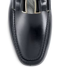 Ferragamo - Black Sardegna Leather Drivers for Men - Lyst