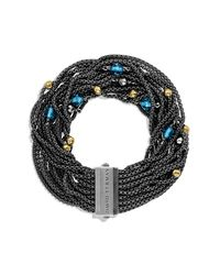 David Yurman | Blue Sixteen-row Chain Bracelet | Lyst