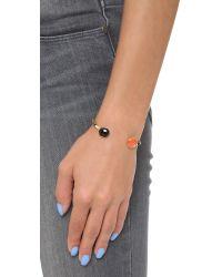 Gas Bijoux | Black Duality Serti Bracelet - Red Multi | Lyst
